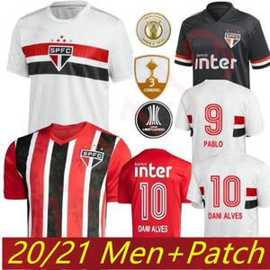 2021 2020 상파울루 FC PATO ALVE 홈 화이트 망 축구 유니폼 Hernanes Pablo So Paulo 축구 셔츠 Camisa de Futebol 20 21