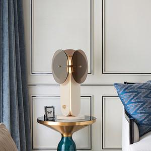 Modern Glass Marble Table Light Living Room Bedroom Bedside Reading Desk Lamp For Restaurant Bar Villa TA263