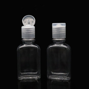 30 ml / 1 OZ Boş Temizle Plastik Doldurulabilir Çevirme Üst Şişeler Plastik Şişe Şeffaf Şişe Seyahat Için Açık İş Gezisi Şampuan