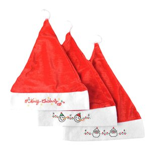 2pcs Christmas Hats Plush Christmas Dress Up Hats Decorations Supplies Christmas Xmas Party Cute Cap New Year Gifts Decor wmtxHe item_home