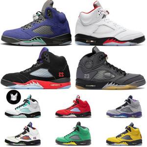 5s 2020 Fire Red Top 5 Jumpman Mens Womens Basketball Shoes Black Muslin Retro Alternate Bel Grape Island Green Luxury Sneakers Size