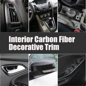 Organizador de automóviles Accesorios de estilo Interior Fibra de carbono Decorativo Decorativo Etiqueta engomada para Focus 3 Sedan Hatchback 2012-20141