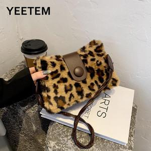 2021 otoño invierno nuevo leopardo impresión mao mao axila bolsa insular celebridad moda bolso hombro bolsa de hombro girasol felpa