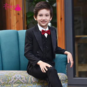 Boys Suits for Weddings Kids Prom Suits Black Wedding Kids Boys Clothing Set Boy Formal Classic Costume Jungenkleidung YN3N#