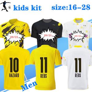Yeni 2020 2021 Ev Uzakta BV Çocuklar Yetişkin Futbol Forması 20 21 Borussia Gotze Reus Brandt Hummels Jersey 20 21 Paco Alcacer Futbol Gömlek