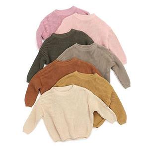 Neueste Deisgner Kinder Pullover Herbst Winter Neugeborenen Baby Mädchen Junge Strickpullover Voller lose Pullover Casual Tops Warme Kleidung für 0-6t