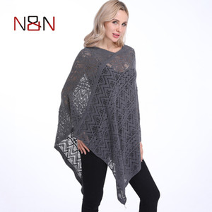 Fashion Sexy Bikini Poncho Thin Sweater Women Solid Hollow Out Cardigan Plus Size Pullovers Sweaters Cover Up 200929