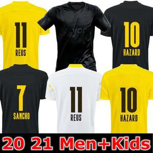 Mann + Kinder 19 20 21 Dortmund Borussia REUS GUERREIRO Jerseys Fussball 2019 2020 Blackout Sancho Hummels Haaland Sport Hemd 2020 Brandt