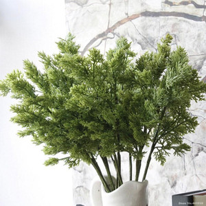 1 ADET Noel Çam Ağacı Dalları Yapay Pinaster Cypress Şubesi Sonbahar Sonbahar Güz Cadılar Bayramı Dekorasyon Yeşillik Çiçek Yaprakları