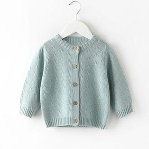Autumn Winter Baby Girls Knitted Cardigan Sweaters Coat Children Clothing Kids Tops