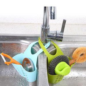 Storage Baske Sink Hanging Storage Bag Basket PVC Bathroom Kitchen Organizer Box Drain Faucet Sponge Holder Organizer Gadget