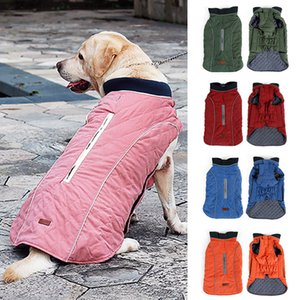 Reflective Pet Dog Coat Jackets for Large Dogs Winter Warm Big Dog Clothes Puppy Pet Outfits Golden Retriever Pitbull Clothing LJ200923