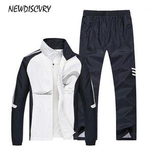 NewDiscvry Iki Parçalı Eşofman Erkekler Ceket + Pantolon erkek Eşofman Seti 2018 Sonbahar Spor Erkek Kazak Takım Elbise Erkek Giyim1