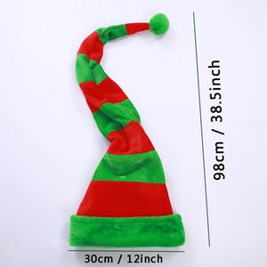 Sombreros de Navidad Sombreros Funny Party Hats Largo Rayas Peluche Hat Hat Navidad Holiday Sombrero Rayado Sombrero Navidad Partido Decoraciones Accesorio DBC BH4318