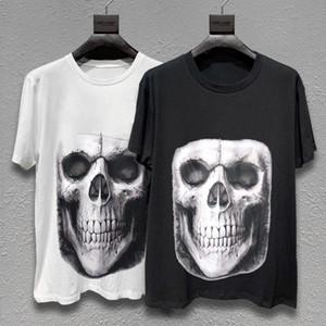 Mens Stylist T Shirt Fashion Men Women Skull Printed Summer T Shirt Black White Fashion Streetwear Short Sleeve M-XL 9RD3 VPGS