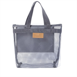 Portable Mesh Large Cosmetic Makeup Bag Womens Travel Toiletry Bags Organizer Casual Wash Beauty Case Tote Makeup Pouch Neceser