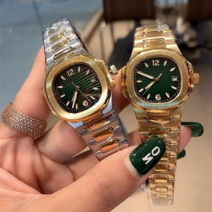 patek philippe Luxus hochwertiger Edelstahl nautilus klassische Frauen Sport Rose Gold-Nadel Uhr für Damen Cal. 7011 32mm Quarz movem Tn0F #
