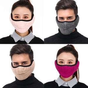 DHL Shipping 2 in 1 Unisex Mouth Muffle Fashion Earmuffs Masks Men Women Outdoor Winter Warm Windproof Half Mask 7 Styles OWF2211