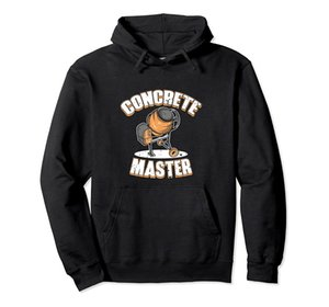 Concrete Finisher Concrete Master Cement Mixer Pullover Hoodie Unisex Size S-5XL with Color Black Grey Navy Royal Blue Dark Heather