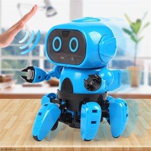Интеллектуальная индукция RC Robot DIY собрана электрическая Следуйте роботу с жестом датчиком препятствий предотвращением детей. Образовательные игрушки 201211