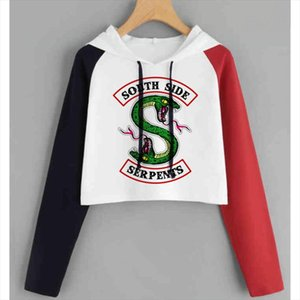 New Hot Riverdale Southside Serpents Hoodies For Women High Quality Harajuku Hoodies South Side Riverdale Sweatshirt For Female