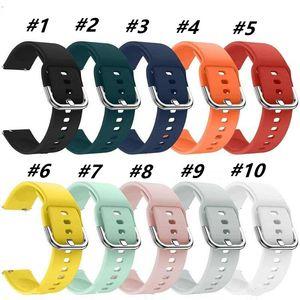 Braccialetto per orologio in silicone morbido per Samsung Galaxy Watch Active 42mm Gear S2 Sport Strap per Huaami AmazFit Bip / Amament 2 Smart Watch Cinture