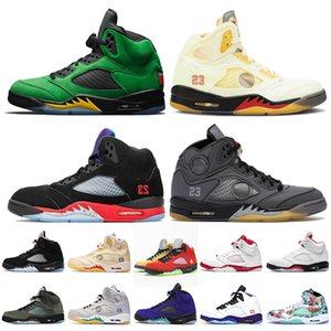 Nike Air Retro Jordan 5 5s off white Jumpman 5 2020 Fire Red Bel Airs Black Muslin TOP 3 Chaussures de basket-ball pour hommes Alternate Grape Michigan Femmes Sneakers
