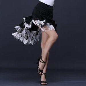 Women Latin Dance Tassel Skirt Rumba Cha Cha Dancewear Dancing Skirts Big Swing 233 137 Drop Shipping