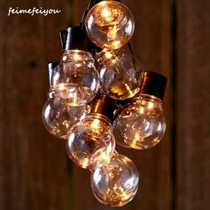 LED G40 Outdoor Patio String Lights LED Clear Globe Bulbs for Patio Garden Backyard Bistro Pergola Tents Gazebo Decor,Black 201023