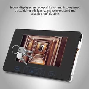 7 pouces caméra sans fil d'empreintes digitales sonnette interphone vidéo numérique Porte Téléphone 2.4GHz Vente Hot