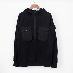 Couple Pullover Hoodie Topstoney Sweatshirt Windbreaker Casual CP Zipper M-XXL Size Cotton Company Coat Mens Stone Hip-Hop Streetwear Ravox
