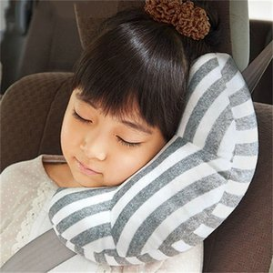 Children's Neck Headrest Seat Belt Shoulder Pads Removable Child Stroller Car Sleep Pillow Seatbelt Cushion Pad Head Support 201022