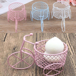 1PCS Tricycle Powder Puff Sponge Display Stand Photography Prop Art Wedding Decoration Container Holder 3 Colors