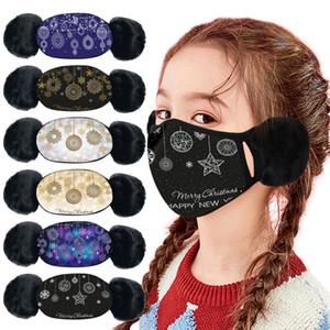 Kids Face Mask Winter Protective Thickness Masks Warm Ear Muffs Masks Fashion Designer Christmas Stlyle Dustproof Windproof