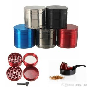 4 Layers Tobacco Grinder Herb Smoke Accesoires with Mill Handle Silver Color Smoke Grinder Metal Kitchen Gadgets