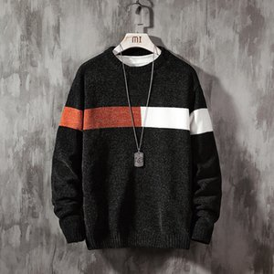New Sweater Men Long Sleeves Autumn Winter Pullover Knitted O-Neck Plus Asian Size 5XL 201021