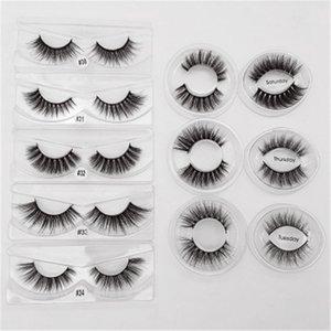 New Arrival !!! Fake Eyelashes Imitation Mink Hair Suit Natural Eye Tail Elongated 3D Eyelashes Curled Soft Fine Eyelashes Eye Lash 2021