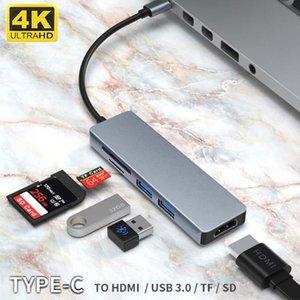 멀티 USB 윈도우 리눅스 USB3.0 분배기 4K 타입 C 미라 SD TF 카드 3 0 HUB HDMI 어댑터 독 C USB 허브의 종류