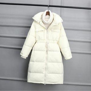 Jacket New 2020 Winter Coat Women White duck Down Jackets Female Long Slim Thickening Warm Black