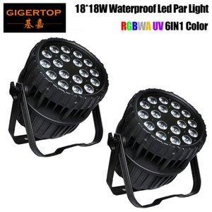 18x18W IP65 300W RGBW LED Flat Par Light DMX512 DJ Disco Party Music Show украшения Освещение сцены Оборудование Iluminacion DJ