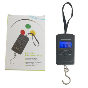 10g 40Kg Digital Scales LCD Display Hanging Luggage Fishing Weight Scale Travel Portable Electronic Hanging Hook Scale Steelyard DBC BH4163