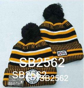 New England Aniversario Steelers Beanie línea lateral en clima frío grafito Deporte Gorro de lana todo el equipo de invierno de punto de lana a22 casquillo del cráneo Gorros