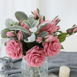 HVAYI Beauty Real Touch Flowers Latex Roses Flower Branch Artificial Flower Flower Flor Mariage Decorar para la decoración del hogar de la boda1