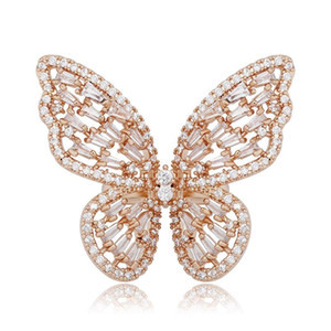 Love Ring Engagement Rings for Women Luxury Designer Jewelry Wedding Iced Out Diamond Butterfly Pandora Style Charm Fashion Rose Gold Silver
