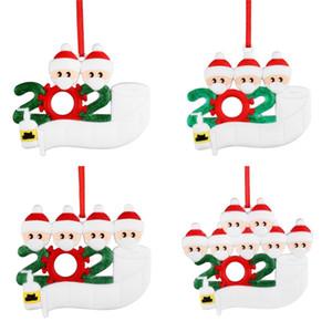 Рождество Подвеска ПВХ DIY Имя рождественской елки висит кулон 2 3 4 5 Кукла носить маски орнамент