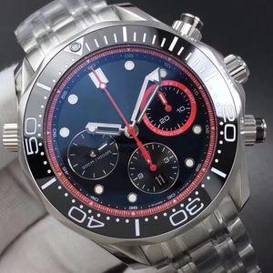 En İyi Kalite Erkekler Erkek Fly-Geri İzle Saatler Tam Stainliess Çelik Chronograph Kuvars Hareketi Saatı