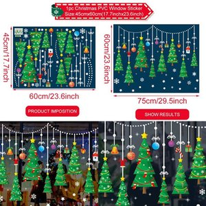 Fengrise Christmas Wall Window Stickers Christmas Decor For Home Xmas Decal Christmas Ornament 2020 Navidad Party Decor New Year sqcGHF