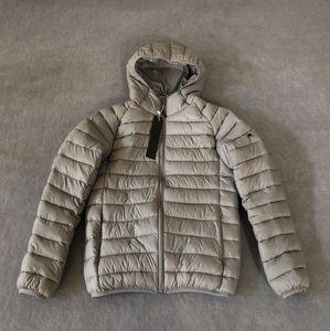 Novo designer casaco masculino moda jaqueta de inverno de alta qualidade quente casual inverno grosso casaco com capuz crachá homens tops roupas