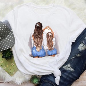 Women Mom Mama Girl Daughter 90s Fashion Cute Mother Love Cartoon Graphic Tees Clothes Print Tops Lady Female T Shirt T Shirt
