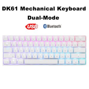 Wireless Bluetooth USB Dual-Mode 61 Keys Gaming Mechanical Keyboard RGB Backlight Blue Switch for PC Computer Notebook